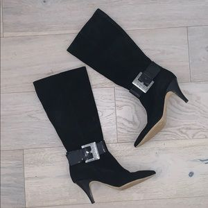 Michael Kors Suede Leather Knee Length Boots